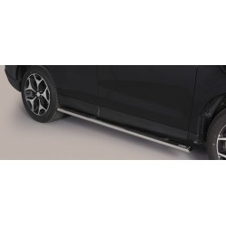 TUBES MARCHE PIEDS OVALE INOX SUBARU FORESTER 2013- accessoires 4x4 MISUTONIDA