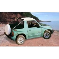 BIKINI TOP BLANC SUZUKI VITARA 1997- (avec pressions) - accessoires 4X4 MISUTONIDA
