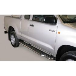 Marche pieds INOX 50 TOYOTA HILUX EXTRA CAB 2011- - accessoires 4X4 MISUTONIDA