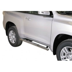 TUBES MARCHE PIEDS OVALE INOX DESIGN TOYOTA LAND CRUISER 150 3P 2009- - accessoires 4X4 MISUTONIDA