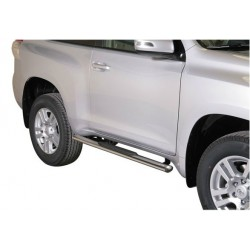 TUBES MARCHE PIEDS OVALE INOX 76 TOYOTA LAND CRUISER 150 3P 2009- - accessoires 4X4 MISUTONIDA