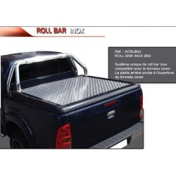 ROLL BAR INOX 63 COMPATIBLE T.COVER UPSTONE VOLKSWAGEN AMAROK DOUBLE CAB 2010- - accessoires 4X4 MISUTONIDA