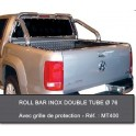 ROLL BAR INOX 76 COMP RTC VOLKSWAGEN AMAROK 2010- accessoires 4X4 MISUTONIDA