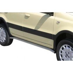 Tubes bas de caisse inox 50 FIAT PANDA 2004- - accessoires 4X4 MISUTONIDA