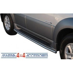 TUBES PROTECTION MARCHE-PIEDS INOX Ø 40 SSANGYONG REXTON 2 2006-