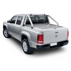 TONNEAU COVER ABS3 VW AMAROK DC PEINT GRIS H7W COMPATIBLE AVEC ROLL-BAR ORIGINE VW - accessoires 4X4 MISUTONIDA