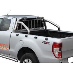 ROLL BAR AVEC GRILLE DE PROTECTION FORD RANGER 2012- - accessoires 4x4