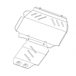 PROTEGE CARTER FORD RANGER 2012- ALU 5MM - accessoires 4X4 MISUTONIDA