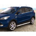 Protection laterales ovales INOX 90 FORD KUGA 2013- CE accessoires 4x4 ANTEC