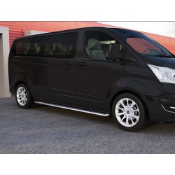 Protection laterales ovales INOX 90 FORD TRANSIT CUSTOM 2013- CE accessoires 4x4 MISUTONIDA