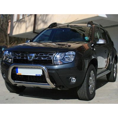 protection avant inox 60 dacia duster 2010 2014 ce. Black Bedroom Furniture Sets. Home Design Ideas