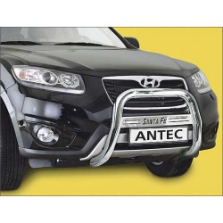 Barre de protection des pietons INOX 70 HYUNDAI SANTA 2012- - CE accessoires 4x4 ANTEC