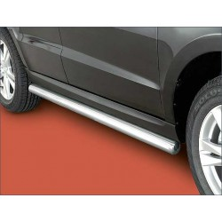 Protection laterale rondes INOX 76 HYUNDAI SANTA 2012- - CE accessoires 4x4 ANTEC