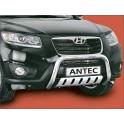Protection avant basse INOX 70 HYUNDAI SANTA FE 5P 2010- - CE accessoires 4X4 ANTEC