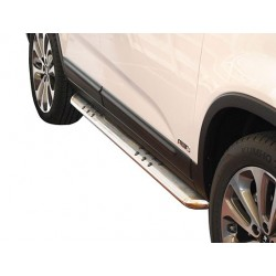 Protections laterales ovales INOX 90 KIA SORENTO 2012- -CE accessoires 4x4 ANTEC