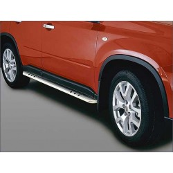 Protections laterales ovales INOX 90 NISSAN X TRIAL 2010- - CE accessoires 4X4 ANTEC