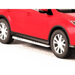 Protections laterales ovales INOX 90 TOYOTA RAV4 2013- - CE accessoires 4x4 ANTEC