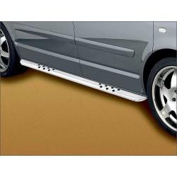 Protections laterales ovales INOX VOLKSWAGEN MULTIVAN 2009-2013 - CE accessoires 4X4 ANTEC