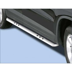 Protections laterales ovales INOX 90 VOLKSWAGEN TIGUAN 2011- - CE accessoires 4X4 ANTEC