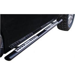 TUBES MARCHE PIEDS OVALE NOIR DESIGN TOYOTA VIGO/HILUX 2006- DOUBLE CAB accessoire 4X4 MARINA