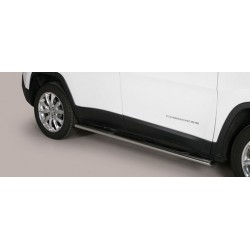 TUBES MARCHE PIEDS OVALE INOX JEEP CHEROKEE 2014- - accessoires 4x4 MISUTONIDA