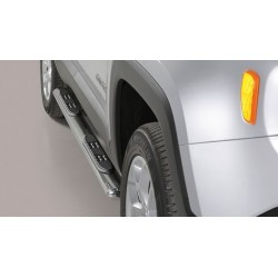 TUBES MARCHE PIEDS OVALE INOX JEEP RENEGADE 2014- accessoires 4x4 MISUTONIDA