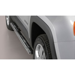 TUBES MARCHE PIEDS OVALE INOX DESIGN JEEP RENEGADE 2014- accessoires 4x4 MISUTONIDA