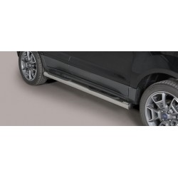 TUBES MARCHE PIEDS INOX D.76 FORD ECOSPORT 2014- - accessoires 4x4 MISUTONIDA