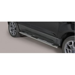 TUBES MARCHE PIEDS OVALE INOX DESIGN FORD ECOSPORT 2014- - accessoires 4x4 MISUTONIDA