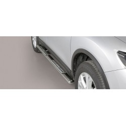 TUBES MARCHE PIEDS OVALE INOX DESIGN NISSAN XTRIAL 2015- - accessoires 4X4 MISUTONIDA
