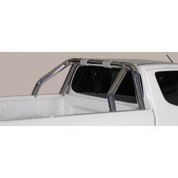 ROLL BAR INOX DOUBLE TUBES D.76 MITSUBISHI L200 2015- Club Cab- accessoires 4x4 MISUTONIDA