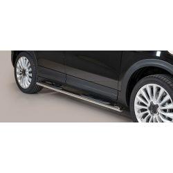 TUBES MARCHE PIEDS OVALE INOX FIAT 500 X 2015- - MISUTONIDA