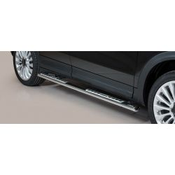 TUBES MARCHE PIEDS OVALE INOX DESIGN FIAT 500 X 2015- - MISUTONIDA
