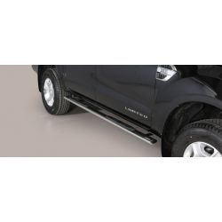TUBES MARCHE PIEDS OVALE INOX FORD RANGER 2016- double cabine - accessoires 4x4 MISUTONIDA