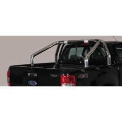 ROLL BAR INOX DOUBLE TUBES D.76 FORD RANGER 2016- double cabine - accessoires 4X4 MISUTONIDA