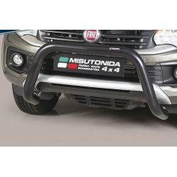 SUPER BAR INOX NOIR D.76 FIAT FULLBACK 2016- DOUBLE CAB CE - MISUTONIDA
