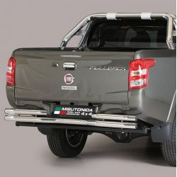 PARE CHOC ARRIERE DOUBLE TUBES INOX D.63 FIAT FULLBACK 2016- DOUBLE CAB - MISUTONIDA