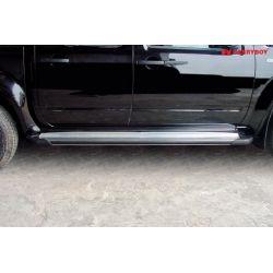 Jeu de marche pieds en aluminium NISSAN NAVARA 2005- D40 King Cab