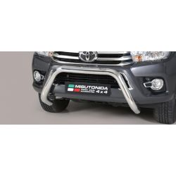 SUPER BAR INOX D.76 TOYOTA HI-LUX 2016- DOUBLE CAB.- CE