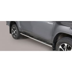 TUBES MARCHE PIEDS OVALE INOX TOYOTA HI-LUX 2016- DOUBLE CAB