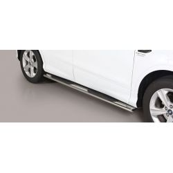 TUBES MARCHE PIEDS OVALE INOX FORD KUGA 2017- - accessoires 4x4 MISUTONIDA