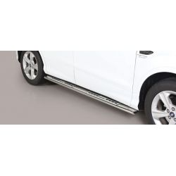 TUBES MARCHE PIEDS OVALE INOX DESIGN FORD KUGA 2017- - accessoires 4x4 MISUTONIDA
