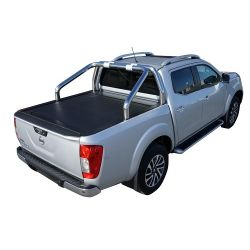 ROLL BAR INOX NOIR 76 NISSAN NAVARA NP300 2016- COMPATIBLE ROLL TOP COVER - accessoires 4X4 MISUTONIDA
