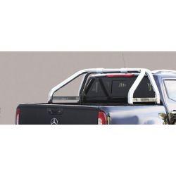 ROLL BAR INOX AVEC MARQUAGE DOUBLE TUBES D.76 MERCEDES X CLASS 2017- double cabine - CE - accessoires 4x4 MISUTONIDA