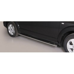 TUBES MARCHE PIEDS OVALE INOX FIAT FREEMONT 2011- - accessoires 4X4 MISUTONIDA