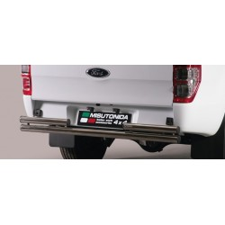 PARE CHOC ARRIERE DOUBLE TUBES INOX 63 FORD RANGER 2012- SUPER CABINE - accessoires 4x4