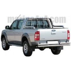PARE CHOC ARRIERE DOUBLE TUBES INOX Ø 63 FORD RANGER 2007-
