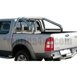 ROLL BAR INOX DOUBLE TUBE 76 FORD RANGER 2007- AVEC MARQUAGE