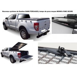 TONNEAU COVER ALU FORD RANGER 2012- SUPER CAB - UPSTONE EVOLVE accessoires 4x4 MISUTONIDA