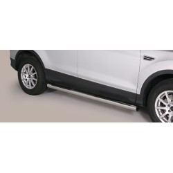 TUBES MARCHE PIEDS INOX 76 FORD KUGA 2013- CE accessoires 4x4 MISUTONIDA